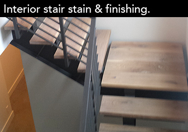 Interior stair stain & finishing options.